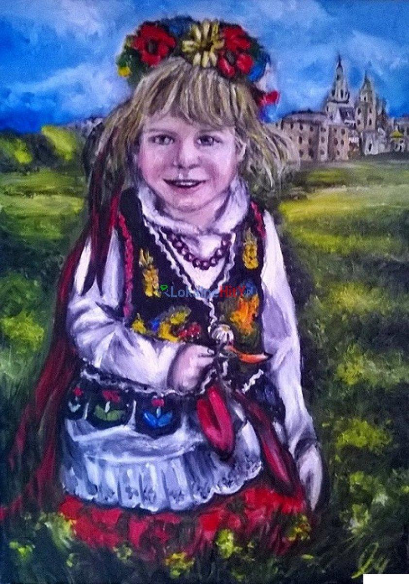 Dziewczynka w stroju Krakowskim