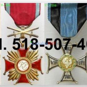 Kupie stare ordery, medale, odznaki, odznaczenia, orzełki