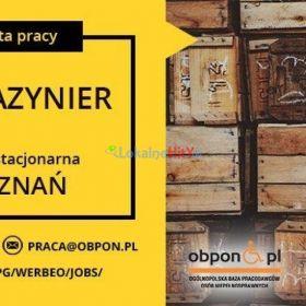 Magazynier - praca stacjonarna dla osoby z niepełnosprawnością w Poznaniu