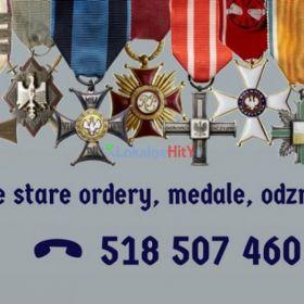Kupie stare pamiątki wojskowe, medale, orły