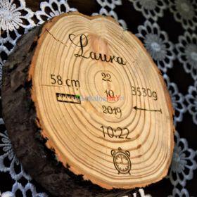 Drewniany krążek grawer