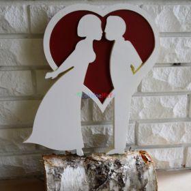 Para młoda dekoracja na ślub lub walentynki