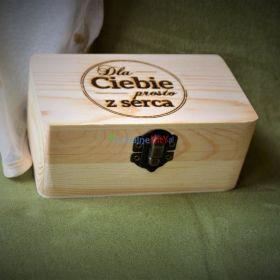 Drewniane pudełko grawer prezent