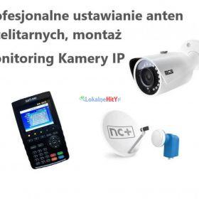 Montaż anten satelitarnych monitoring