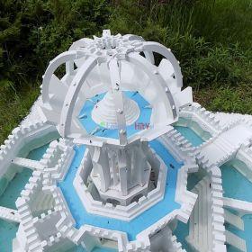 Mała architektura - nowa technika budowy form 3d - fontanny ogień i woda