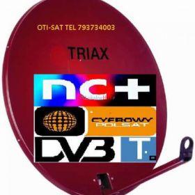 Brzeg Grodków Nysa montaż anten satelitarnych tv tel 793734003