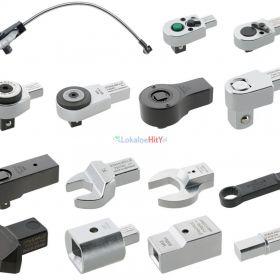Oprzyrządowanie dynamometryczne - złączki, końcówki, grzechotki