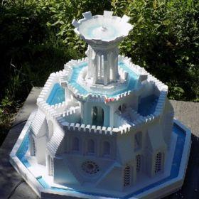 Za darmo - nowa technika budowy form 3d - fontanny ze świecami z betonu.