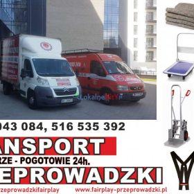 PRZEPROWADZKI Tragarze TRANSPORT bagażówka od 70zł/h!!! Nr.1