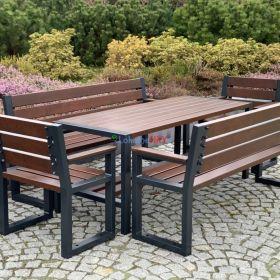 Zestaw mebli ogrodowych z drewna - wysoka jakość, nowoczesny wzór